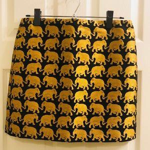 J. Crew Elephant Mini Skirt EUC